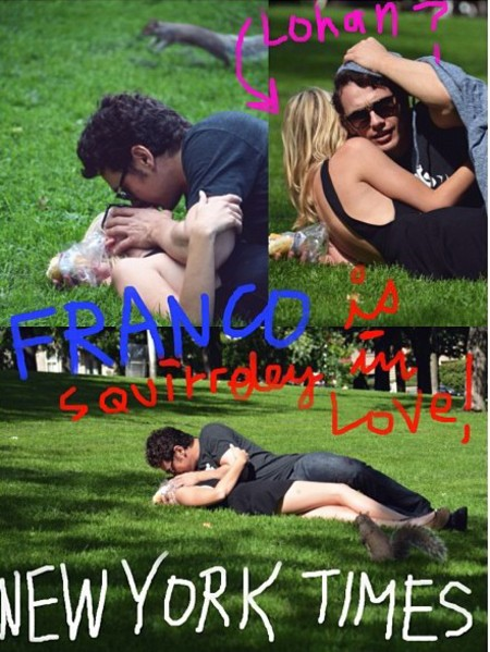james-franco-and-lindsay-lohan-mocking-parody-paparazzi-shots