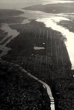 new york grigia dall'alto