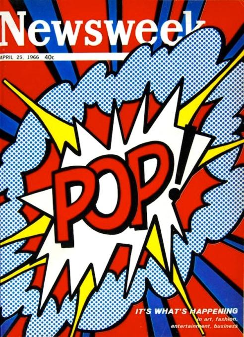 Famosa esplosione pop di Lichtenstein, a cui nel 1966 il magazine Newsweek dedica la copertina.